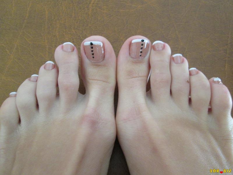 педикюр фото на коротких ногтях