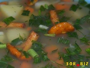 Суп из сухих лисичек рецепт с фото