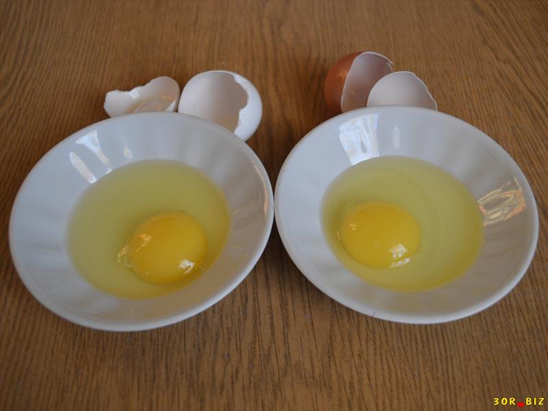 От чего зависит цвет желтка куриного яйца