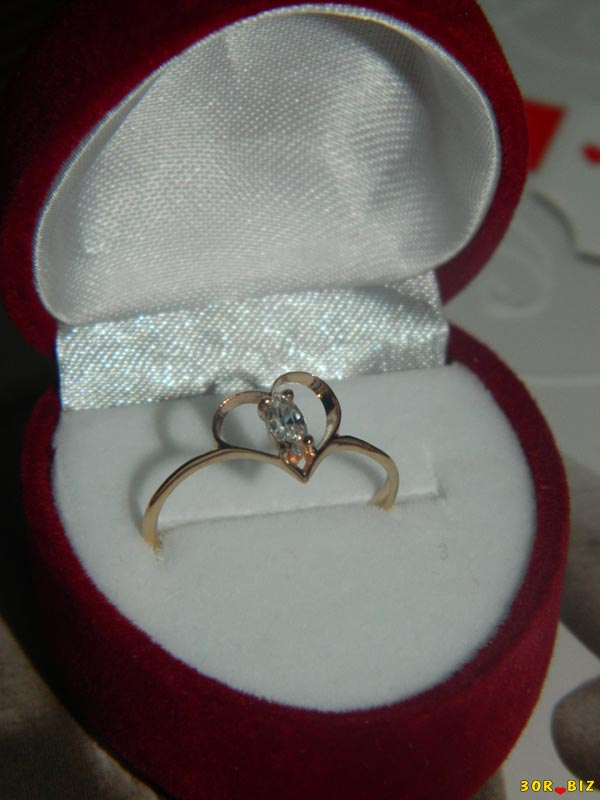 Подарок кольцо в коробке 28