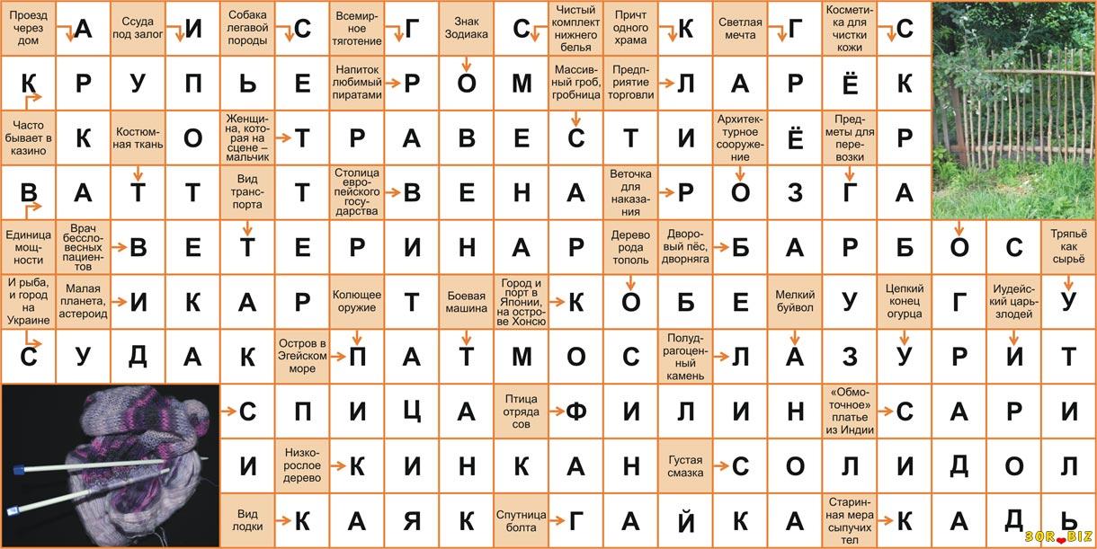 Ответы на онлайн сканворд 20x10 р 6 Крупье